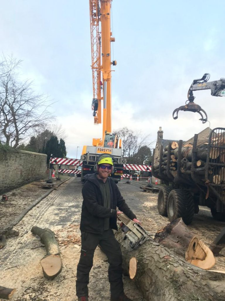 road closure for tree work in edinburgh