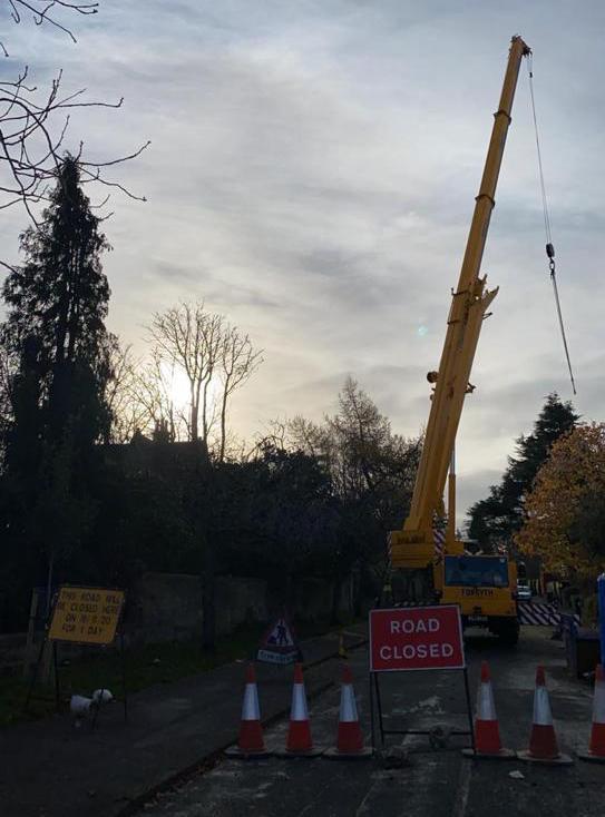 road closure for tree removal in edinburgh.